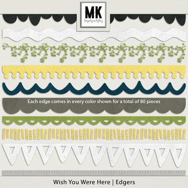 Wish You Were Here - Edgers Digital Art - Digital Scrapbooking Kits
