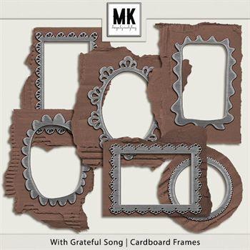 With Grateful Song - Cardboard Frames Digital Art - Digital Scrapbooking Kits
