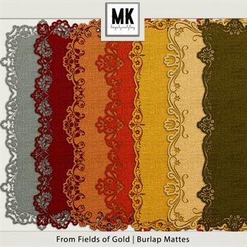 From Fields Of Gold - Burlap Mattes Digital Art - Digital Scrapbooking Kits