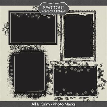All Is Calm - Photo Masks Digital Art - Digital Scrapbooking Kits