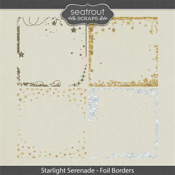 Starlight Serenade - Foil Borders Digital Art - Digital Scrapbooking Kits