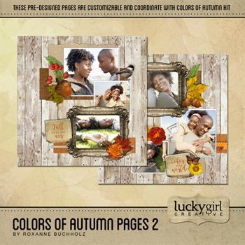 Colors Of Autumn Pages 2 Digital Art - Digital Scrapbooking Kits
