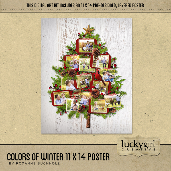 Colors Of Winter 11 X 14 Poster Digital Art - Digital Scrapbooking Kits