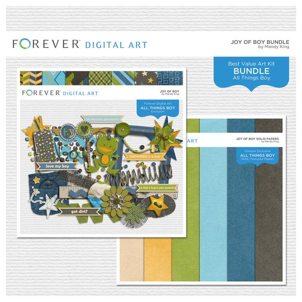 Joy Of Boy Bundle Digital Art - Digital Scrapbooking Kits