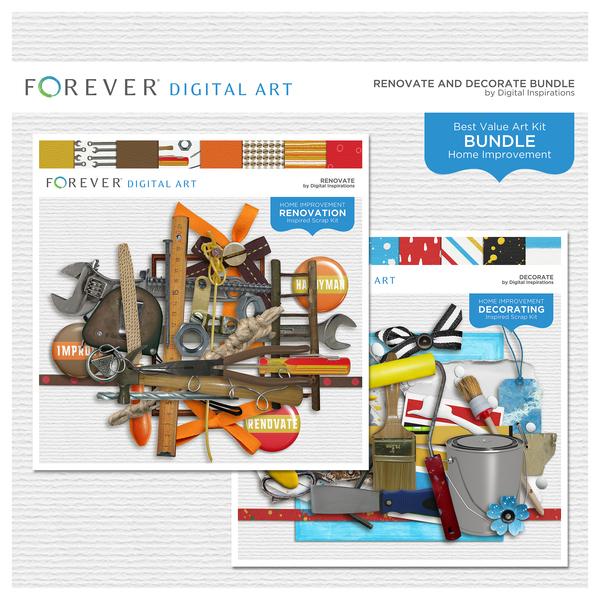 Renovate And Decorate Bundle Digital Art - Digital Scrapbooking Kits