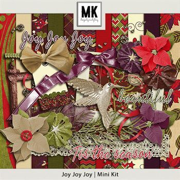 Joy Joy Joy- Mini Kit Digital Art - Digital Scrapbooking Kits
