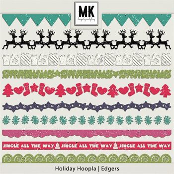 Holiday Hoopla - Edgers Digital Art - Digital Scrapbooking Kits