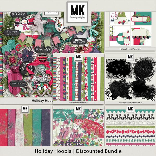 Holiday Hoopla - Discounted Bundle Digital Art - Digital Scrapbooking Kits