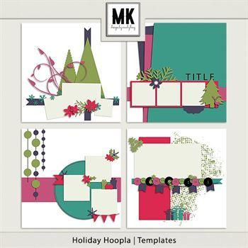 Holiday Hoopla - Templates Digital Art - Digital Scrapbooking Kits
