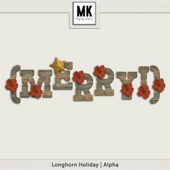 Longhorn Holiday - Alpha Digital Art - Digital Scrapbooking Kits