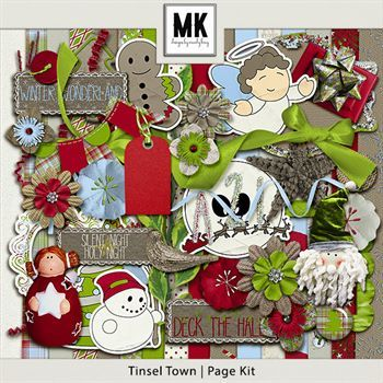 Tinsel Town - Page Kit Digital Art - Digital Scrapbooking Kits