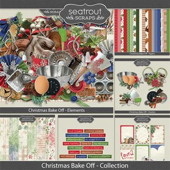 Christmas Bake Off Discounted Bundle Digital Art - Digital Scrapbooking Kits