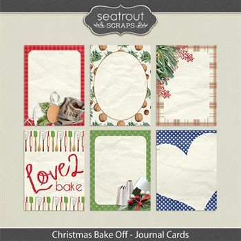 Christmas Bake Off Journal Cards
