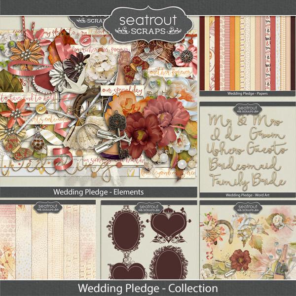 Wedding Pledge Discounted Bundle Digital Art - Digital Scrapbooking Kits