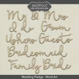 Wedding Pledge Word Art