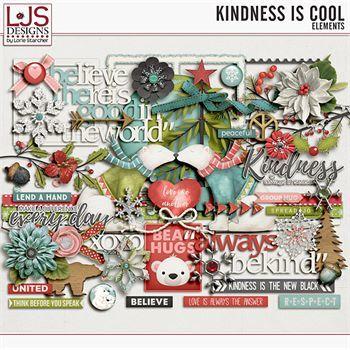 Kindness Is Cool - Elements Digital Art - Digital Scrapbooking Kits