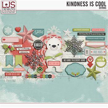 Kindness Is Cool - Extras Digital Art - Digital Scrapbooking Kits