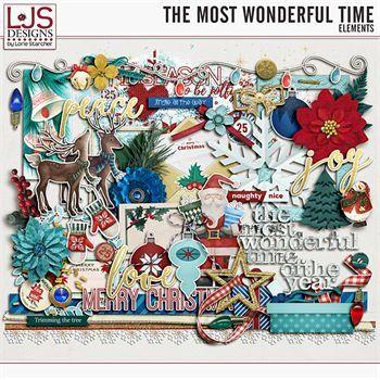 The Most Wonderful Time - Elements Digital Art - Digital Scrapbooking Kits
