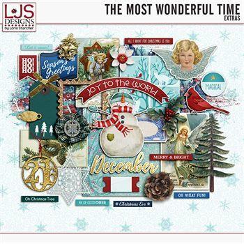 The Most Wonderful Time - Extras Digital Art - Digital Scrapbooking Kits