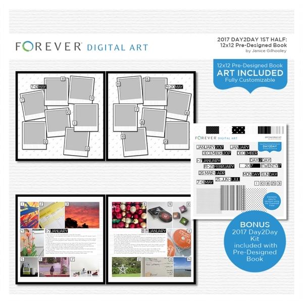 2017 Day2Day 1st Half Pre-designed Book 12x12