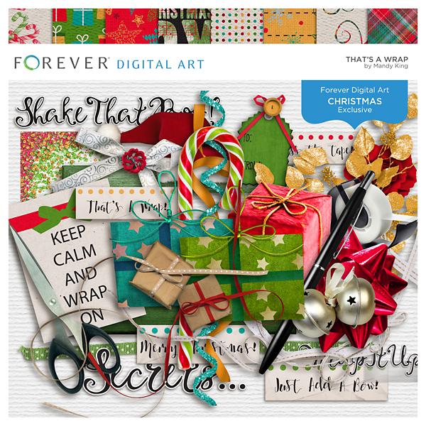 That's A Wrap Digital Art - Digital Scrapbooking Kits