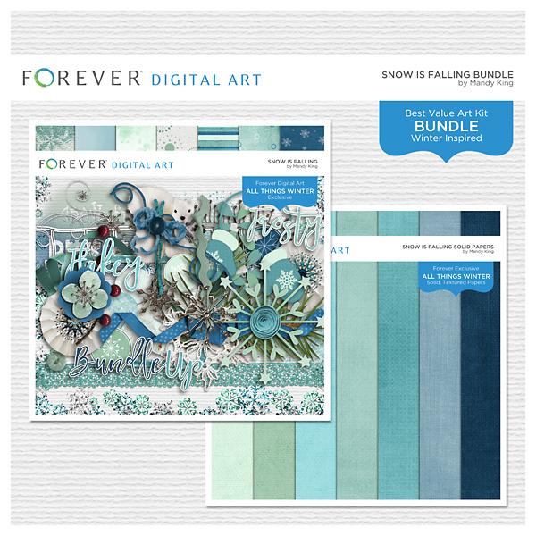 Snow Is Falling Bundle Digital Art - Digital Scrapbooking Kits