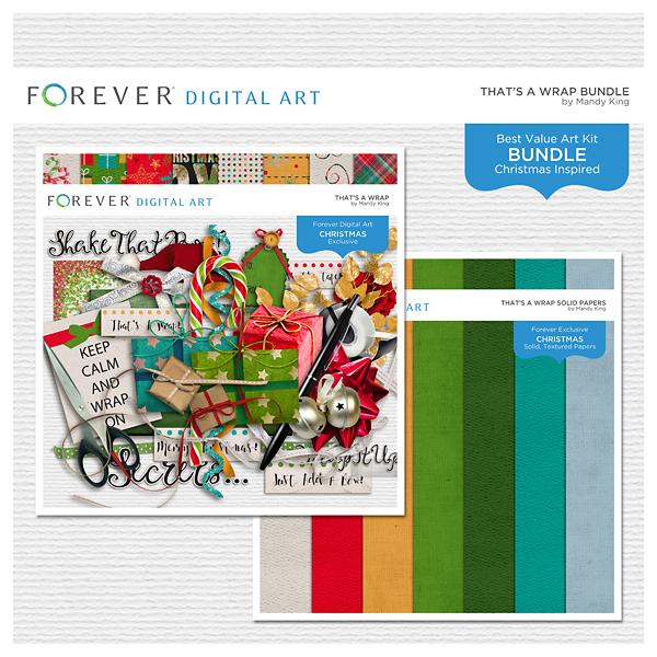 That's A Wrap Bundle Digital Art - Digital Scrapbooking Kits