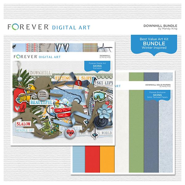Downhill Bundle Digital Art - Digital Scrapbooking Kits