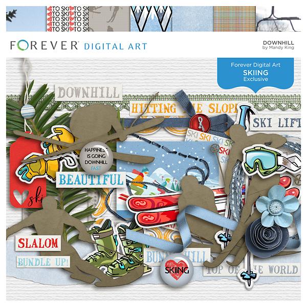 Downhill Digital Art - Digital Scrapbooking Kits