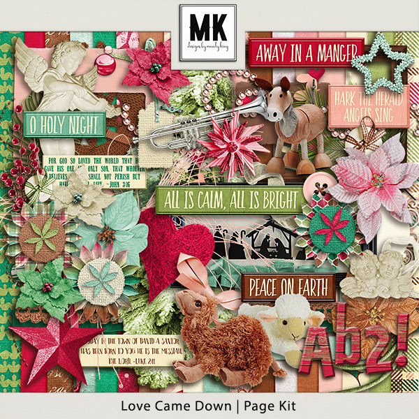 Love Came Down - Page Kit Digital Art - Digital Scrapbooking Kits