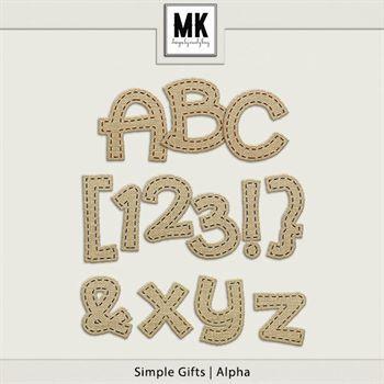 Simple Gifts - Alpha Digital Art - Digital Scrapbooking Kits