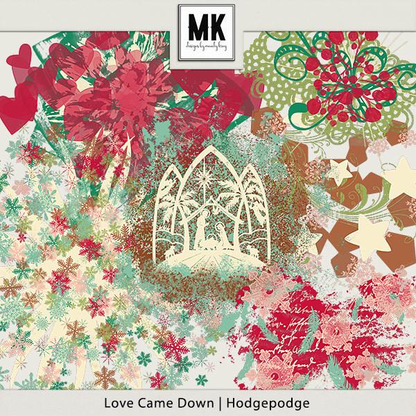 Love Came Down - Hodgepodge Digital Art - Digital Scrapbooking Kits