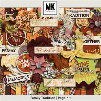 Family Tradition - Page Kit Digital Art - Digital Scrapbooking Kits