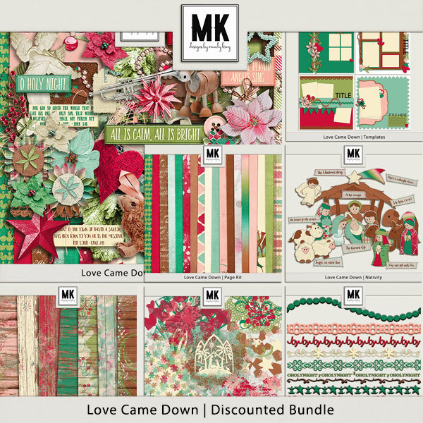 Love Came Down - Discounted Bundle Digital Art - Digital Scrapbooking Kits