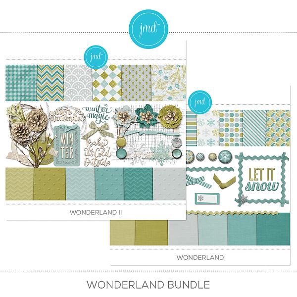 Wonderland Bundle Digital Art - Digital Scrapbooking Kits