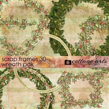 Scrap.frames 30 - Wreaths Digital Art - Digital Scrapbooking Kits