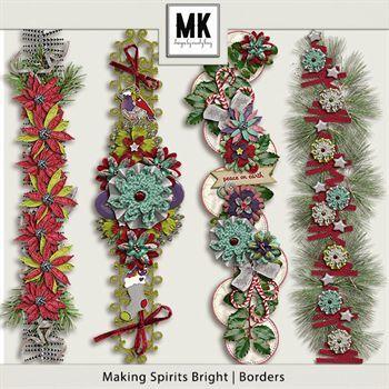 Making Spirits Bright - Borders Digital Art - Digital Scrapbooking Kits