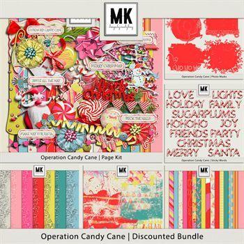 Operation Candy Cane - Discounted Bundle Digital Art - Digital Scrapbooking Kits