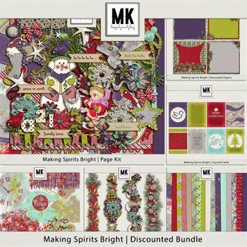 Making Spirits Bright - Discounted Bundle Digital Art - Digital Scrapbooking Kits