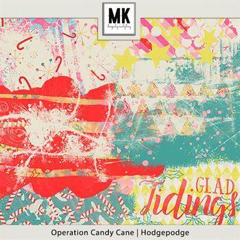 Operation Candy Cane - Hodgepodge Digital Art - Digital Scrapbooking Kits