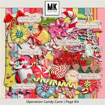 Operation Candy Cane - Page Kit Digital Art - Digital Scrapbooking Kits