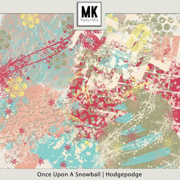 Once Upon A Snowball - Hodgepodge Digital Art - Digital Scrapbooking Kits