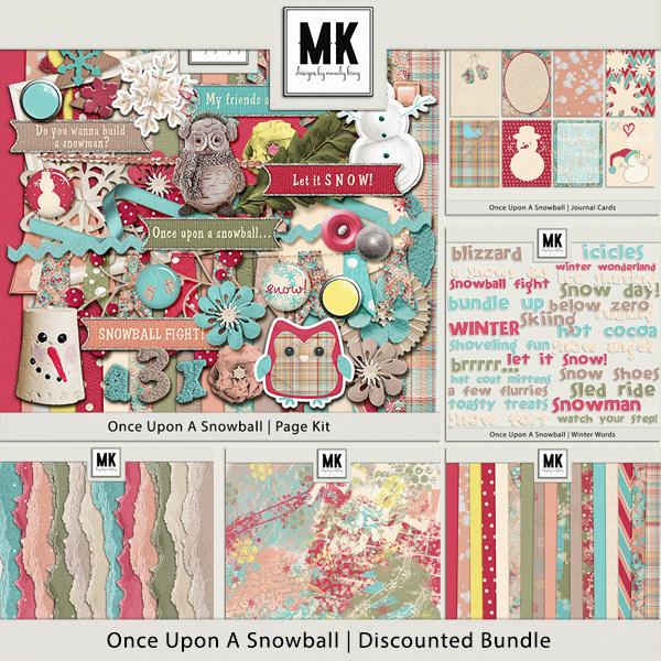 Once Upon A Snowball - Discounted Bundle Digital Art - Digital Scrapbooking Kits