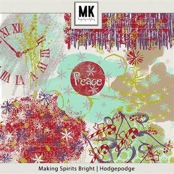 Making Spirits Bright - Hodgepodge Digital Art - Digital Scrapbooking Kits
