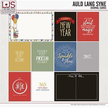 Auld Lang Syne - Journal Cards Digital Art - Digital Scrapbooking Kits