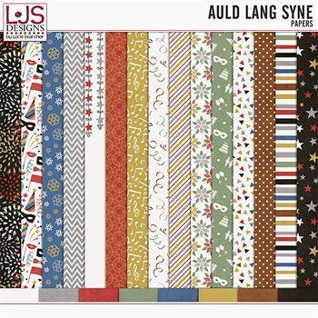 Auld Lang Syne - Papers Digital Art - Digital Scrapbooking Kits