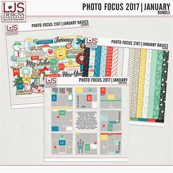 Photo Focus 2017 - January Bundle Digital Art - Digital Scrapbooking Kits