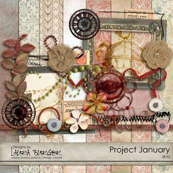 Project January Digital Art - Digital Scrapbooking Kits