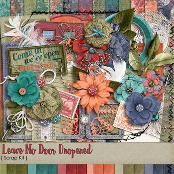 Leave No Door Unopened Scrap Kit Digital Art - Digital Scrapbooking Kits