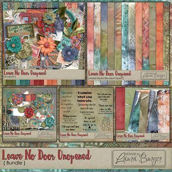 Leave No Door Unopened Bundle Digital Art - Digital Scrapbooking Kits